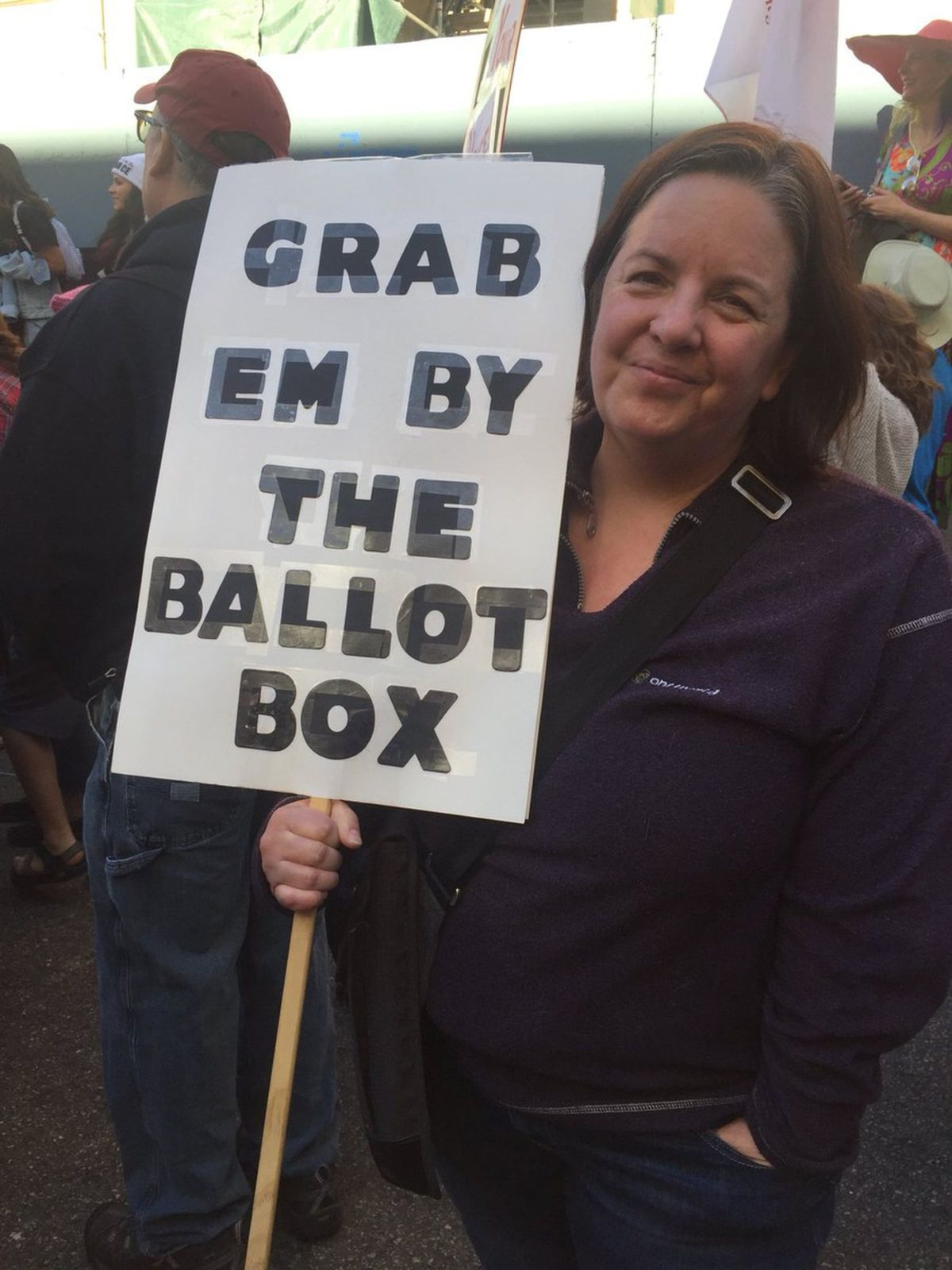 'Grab 'em by the ballot box': Marchers in Los Angeles look ahead to midterm elections
