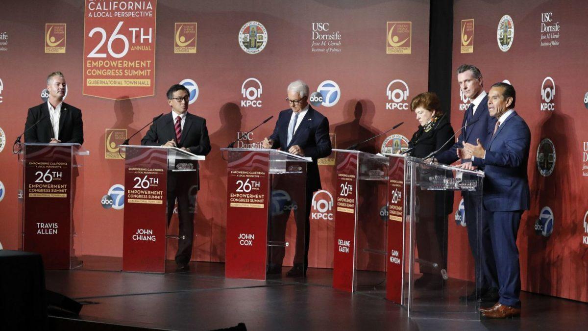 Gavin Newsom leads fundraising in the California governor's race, but Antonio Villaraigosa gets a boost from allies
