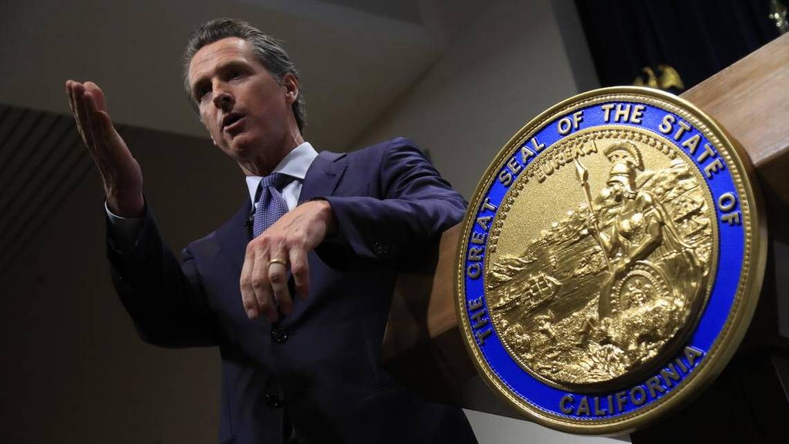 Gavin Newsom's record offers hints about how he'll handle unions and California pensions