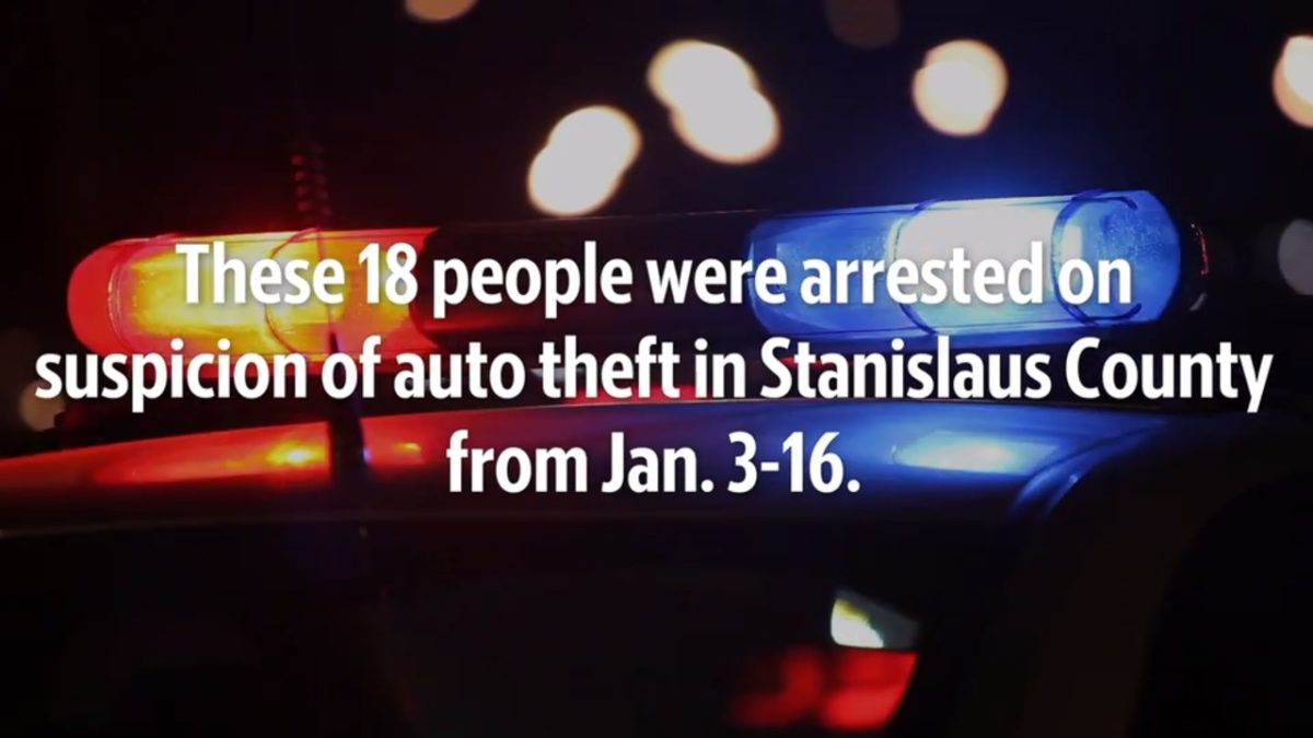 See the Stanislaus County auto theft suspects from Jan. 3-16