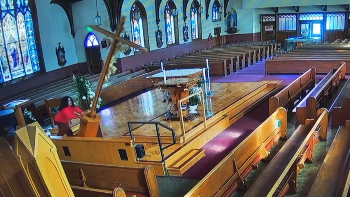Woman goes on vandalism spree, damages Watsonville church