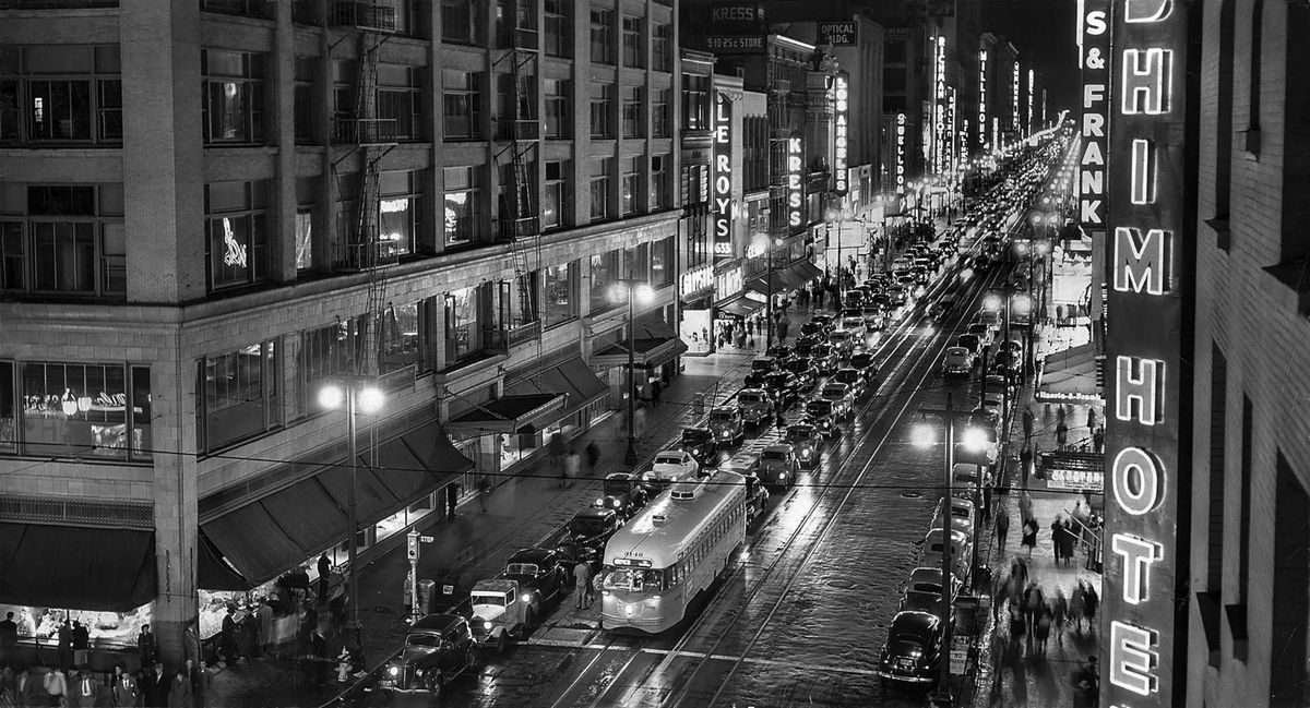 From the Archives: Sparkling night on Broadway in L.A.