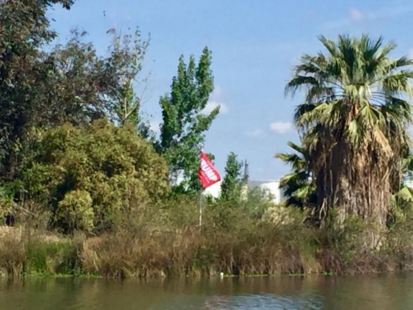 President Trump flag flies at Truxtun Lake island
