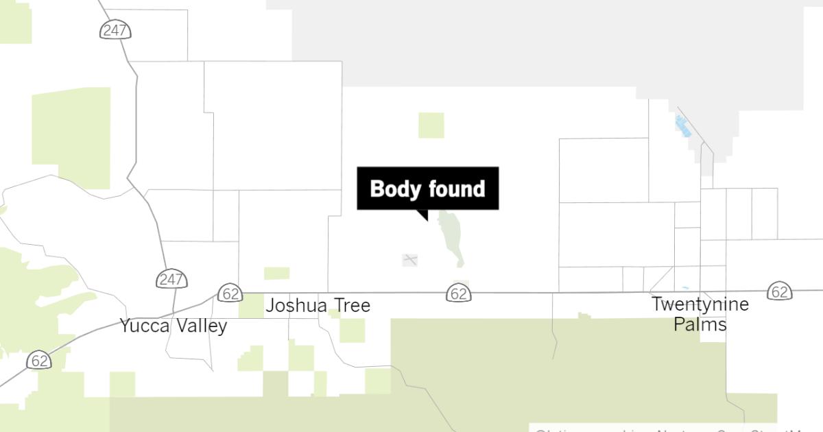 Burned body found in dry lake bed in Joshua Tree