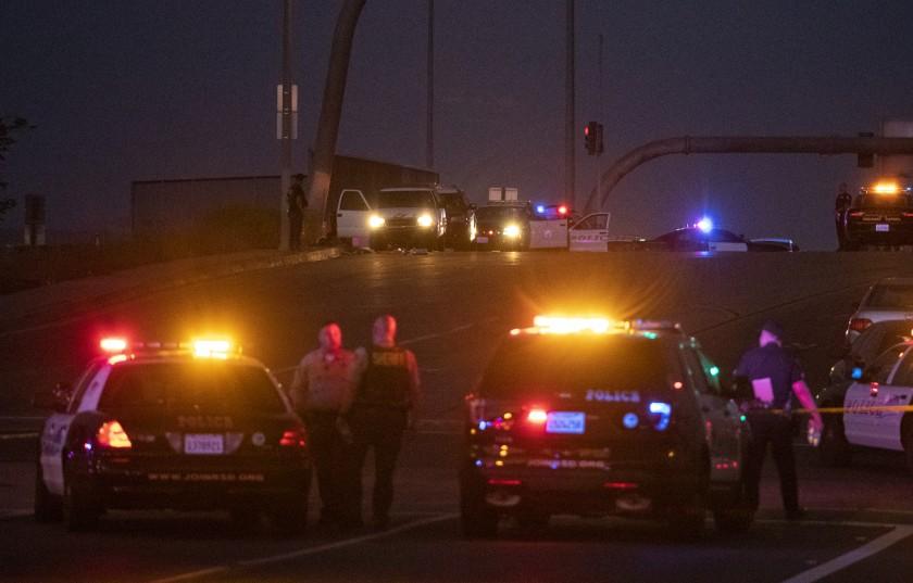 Wild shootout near 215 Freeway in Riverside leaves CHP officer and gunman dead