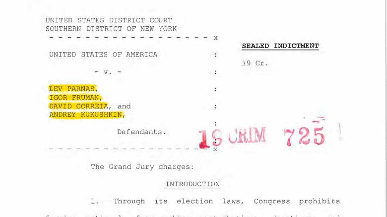 Annotated: What's in the indictment of two Rudy Giuliani associates