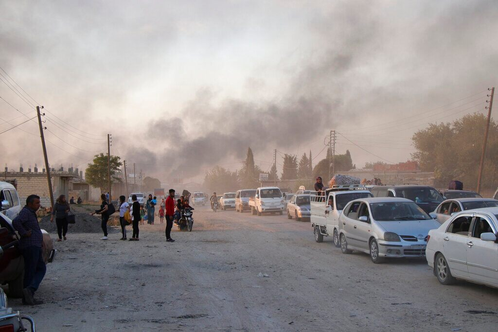 Turkey's military assault in Syria leaves more than 100 Kurdish fighters dead, report says