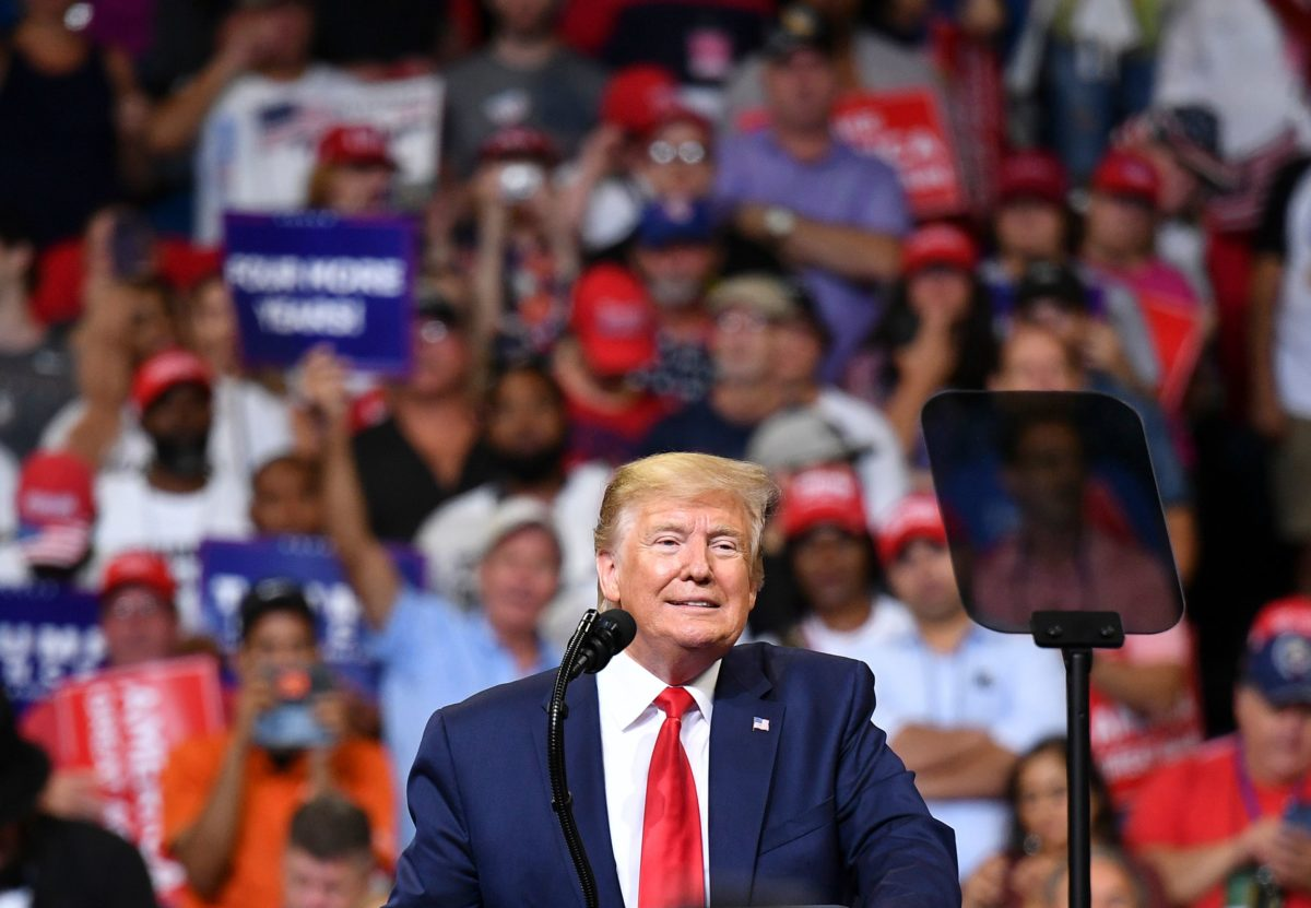 The President accused Democrats of wanting to 'destroy you and … our country as we know it' during a rally to kick off his 2020 campaign