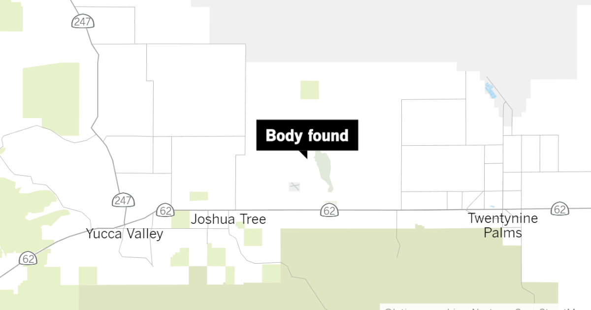Burned body found in dry lake bed in Joshua Tree
