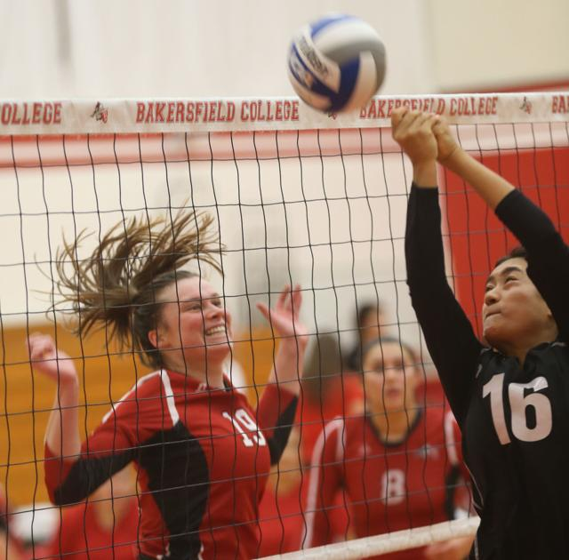 PHOTO GALLERY: Bakersfield College women's volleyball against Mt. SAC