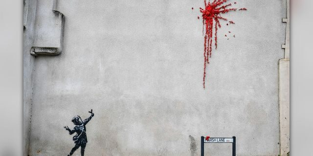 Banksy Valentine's Day artwork found on England home